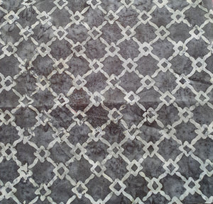 Sew Simple Stamped Batik Fabric - Grey Wire Fence