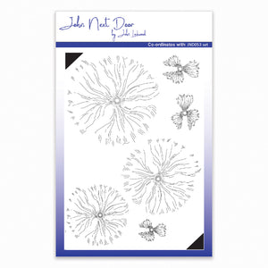 John Next Door Clear Stamp - Blousy Poppy