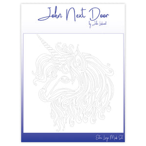 John Next Door Mask Stencil - Unicorn