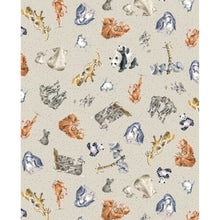 Love Is... - Zoology on Light Gray - Cotton Print Fabric - per half metre