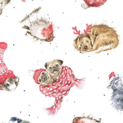 Warm Wishes by Hannah Dale of Wrendale Designs Cotton Print - Tossed Animals