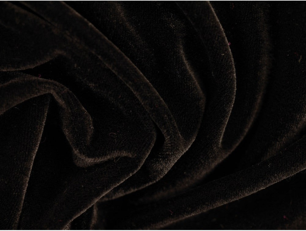 Velour Fabric - Black