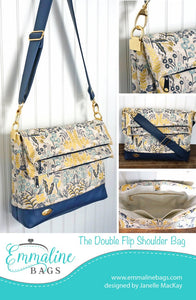 The Double Flip Shoulder Bag Pattern by Emmaline Bags