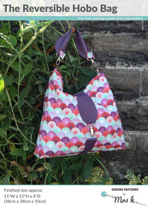 Reversible Hobo - Sewing by Mrs H Bag Pattern Front