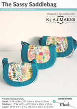 Sassy Saddlebag - Sewing by Mrs H Bag Pattern Front