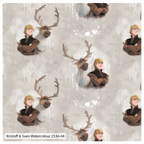 Frozen 2 Fabric Collection - Kristoff and Sven
