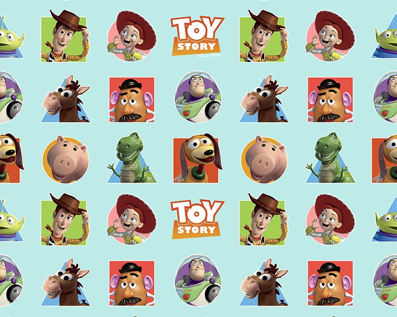 Little Johnny Digital Cotton Fabric - Disney Toy Story Patches