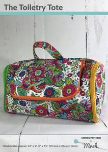 Toiletry Bag - Sewing by Mrs H Bag Pattern Front