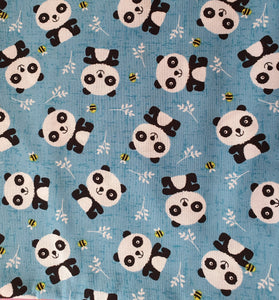 Buzzy Panda Cotton Print