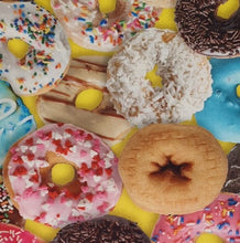 This and That III - Donuts on Yellow - per half metre