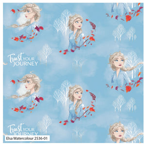 Frozen 2 Fabric Collection - Elsa Watercolour