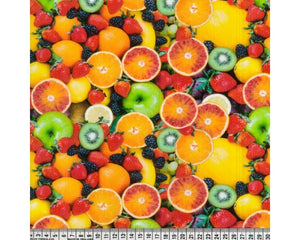Little Johnny - Fruits Digital Cotton Fabric - per half metre