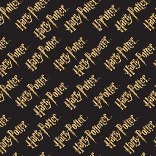 Harry Potter Cotton Fabric - Logo