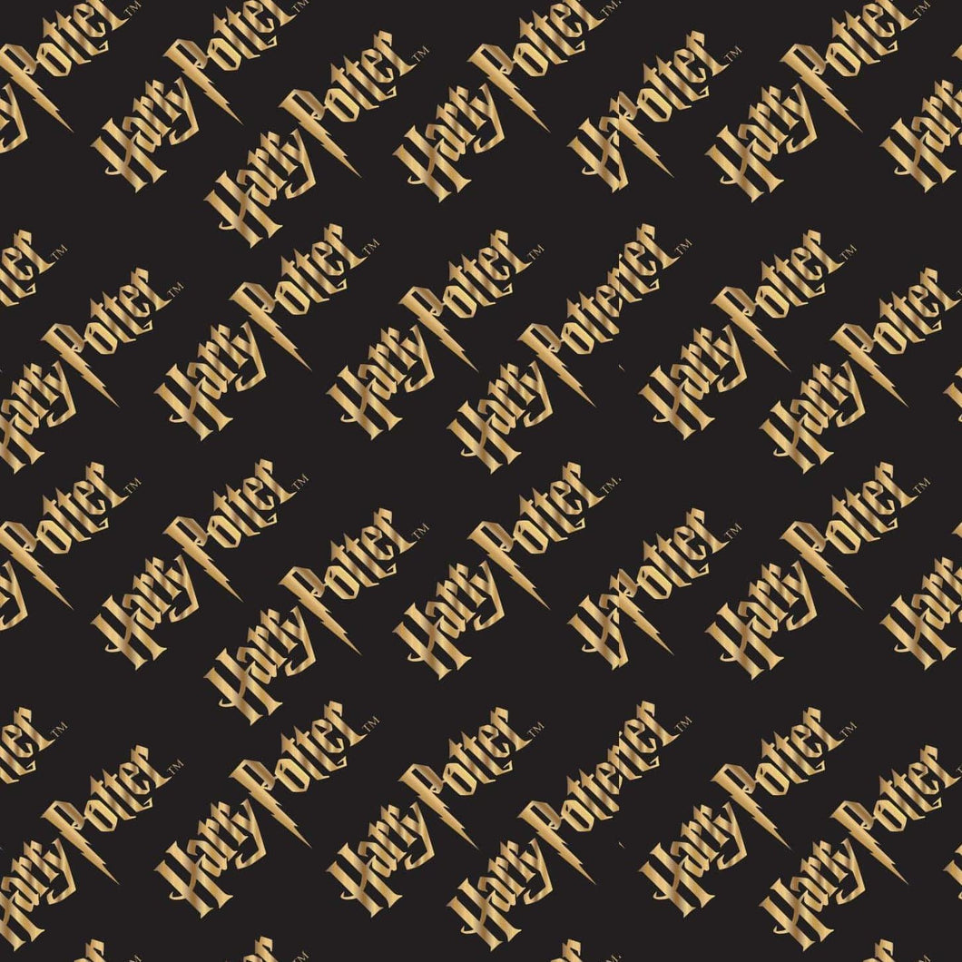 Harry Potter Cotton Fabric - Logo - per 1/4 metre