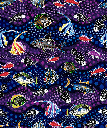 Way Under Fabric Collection - Fish