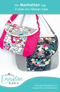Manhattan Bag Pattern by Emmaline Bags - Front Cover