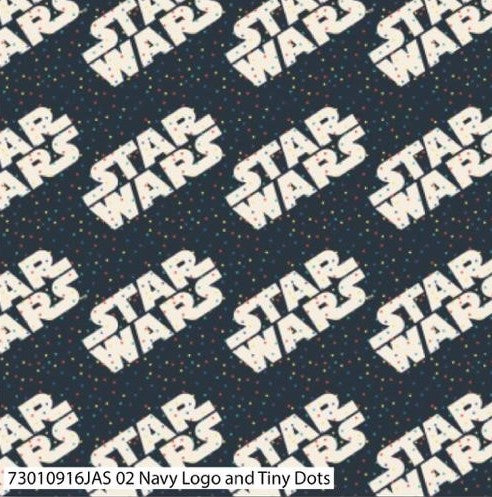 Star Wars Cotton Print - Logo and Tiny Dots - per half metre