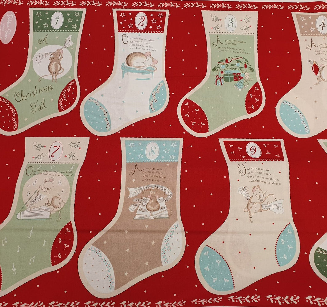 A Christmas Tail Cotton Print - Story Panel