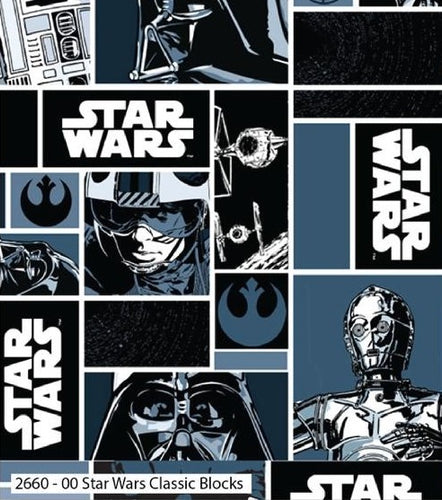 Star Wars Cotton Print - Classic Blocks - per half metre