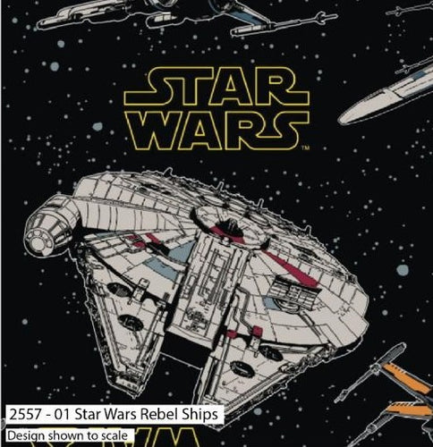 Star Wars Cotton Print - Rebel Ships - per half metre