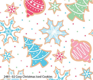 Fabric Remnant - Cosy Christmas - Iced Cookies