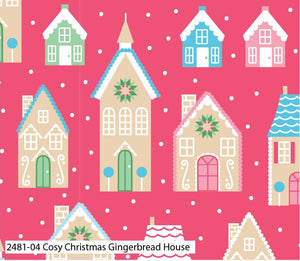 Cosy Christmas Fabric Collection - Gingerbread House
