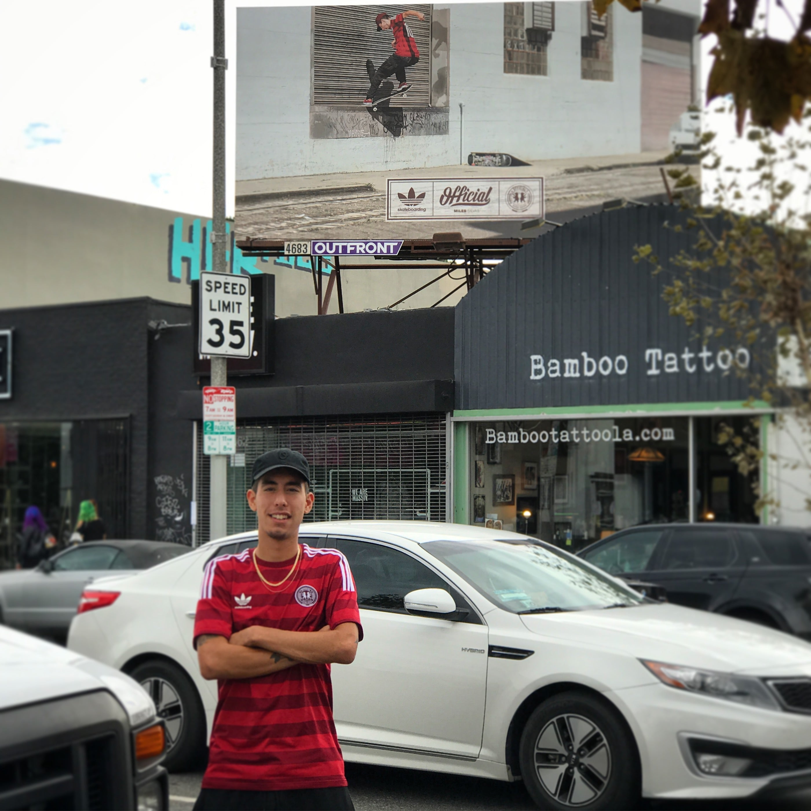 Miles Silvas Official Adidas Billboard
