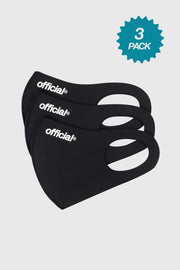 3 Pack - Official Nano-Polyurethane Face Mask (Black)