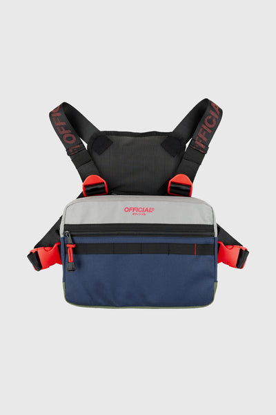 Color Flip Utility Chest Bag (Gray / Navy / Olive)