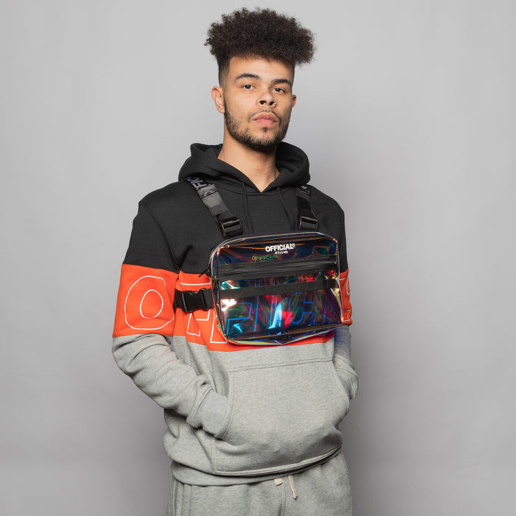 Iridescent Translucent Chest Utility Bag
