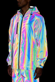 RFLCTIV Squid Ink Dichroic Reflective Jacket