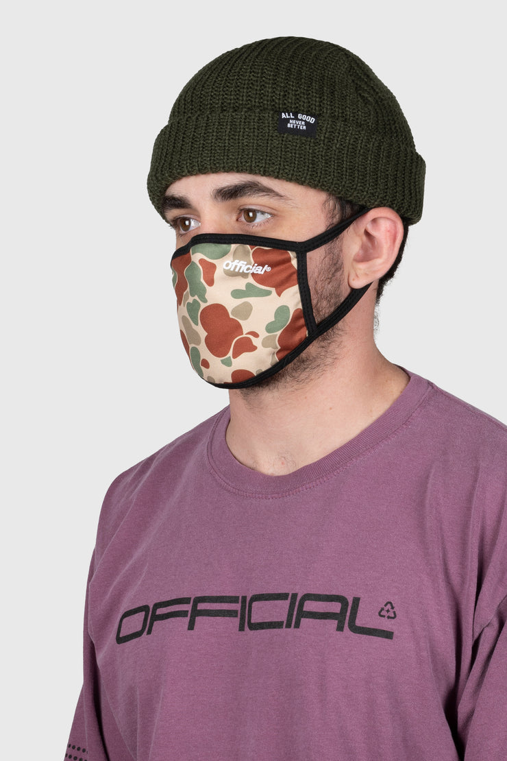 Duck Camo Face Mask (Beige)