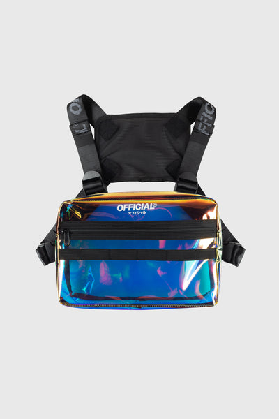 Iridescent Translucent Utility Chest Bag