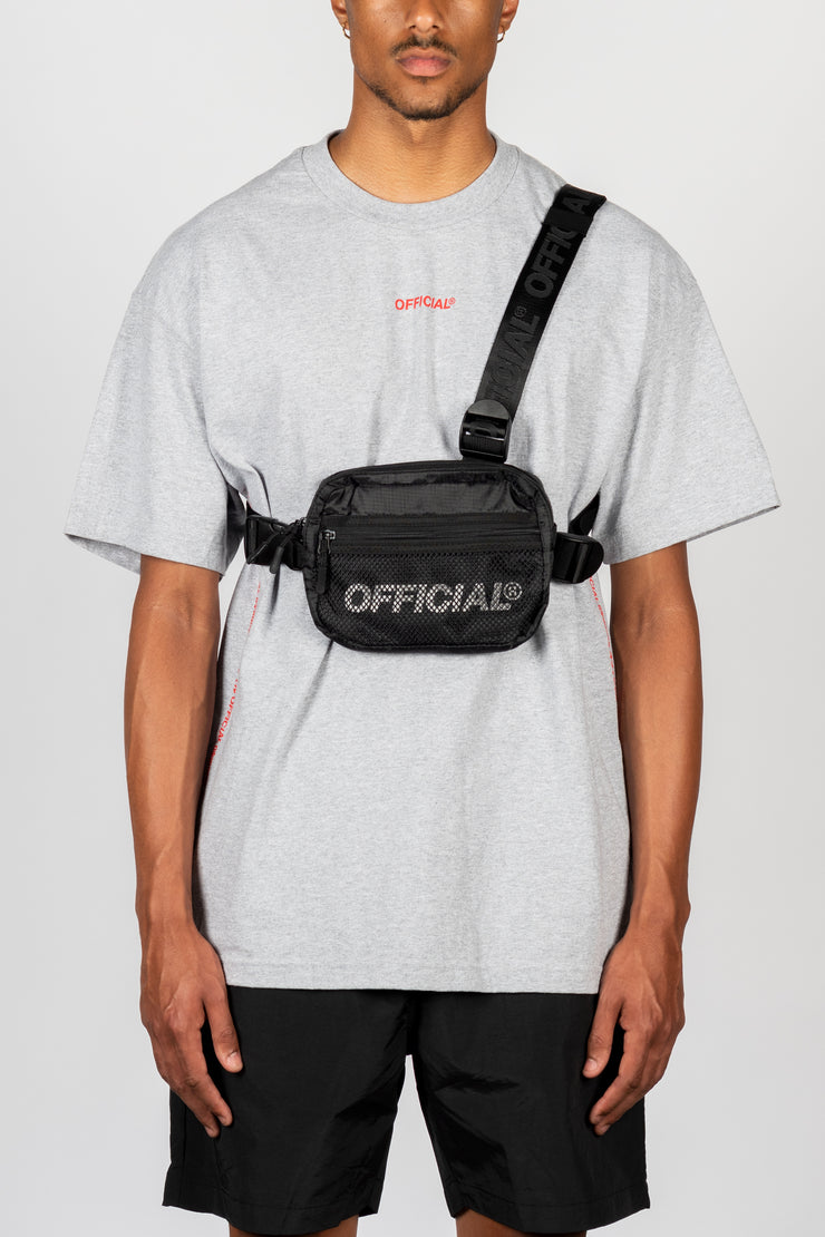 Melrose 2.0 Tri-Strap Utility Chest Bag (Black)
