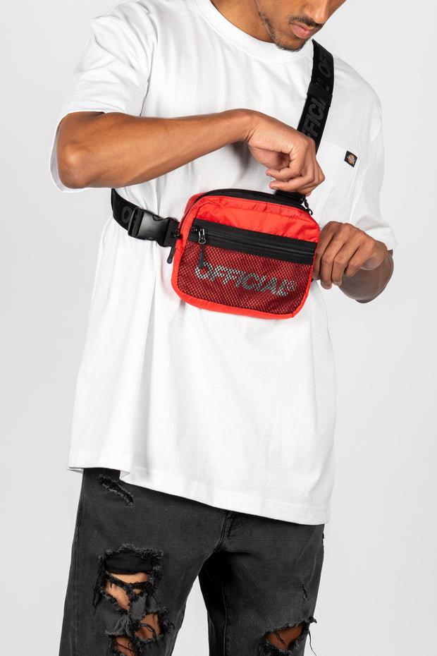 Melrose 2.0 Tri-Strap Utility Chest Bag (Red)