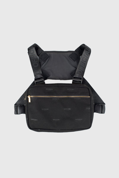 Milano Luxe Chest Utility Bag (Black)