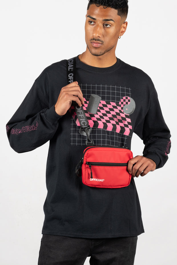 Neck Utility Shoulder Bag - Red