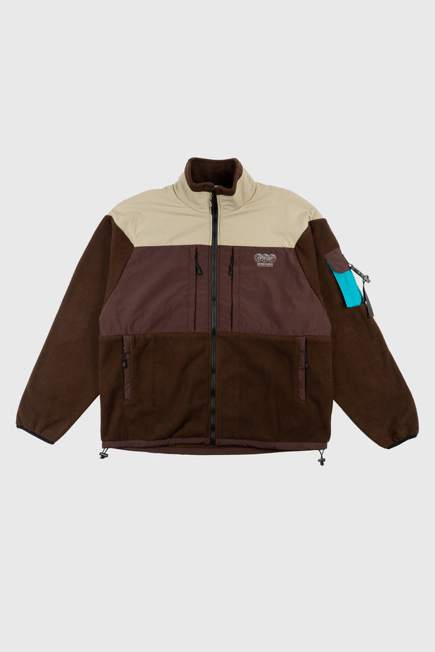 Ascent Tech Fleece Jacket (Brown) 1