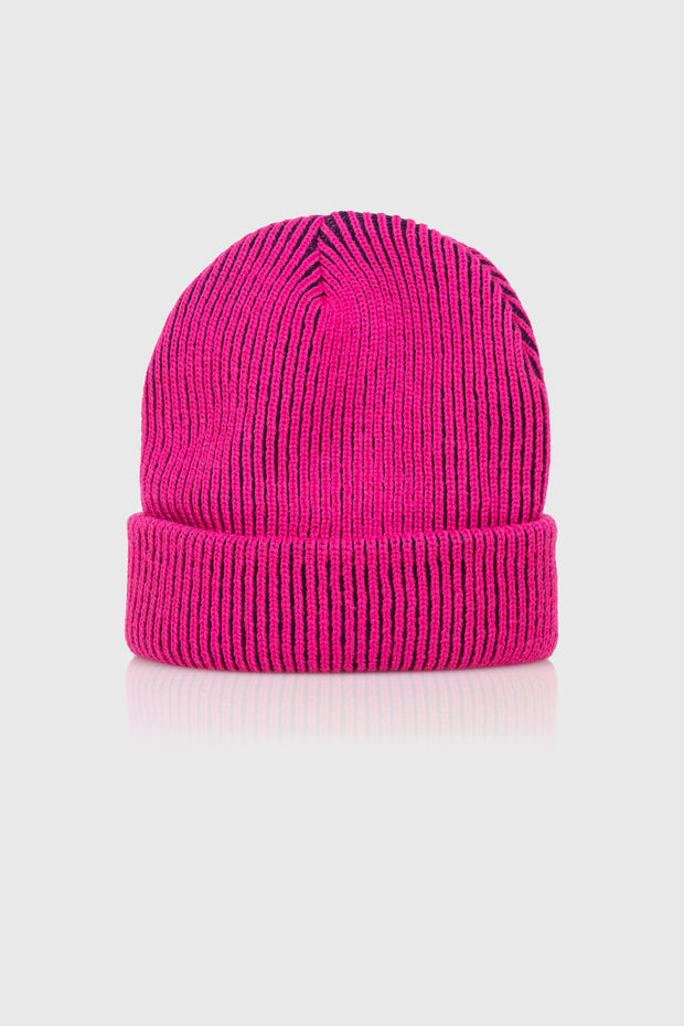 Acid World 2-Tone Beanie (Fuschia)