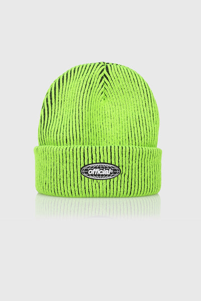Acid World 2-Tone Beanie (Volt Green)