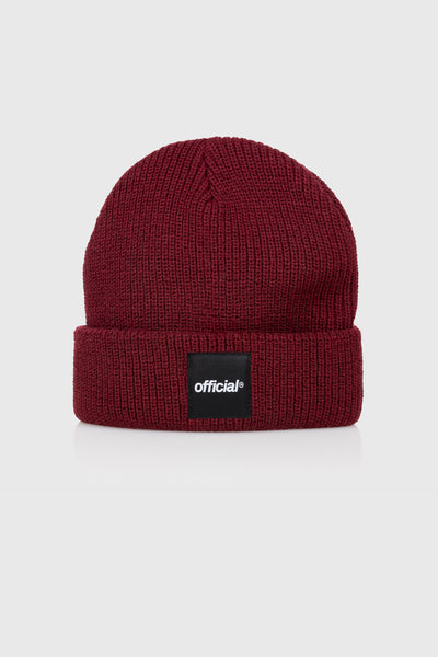 Everyday Box Logo Beanie (Burgundy)
