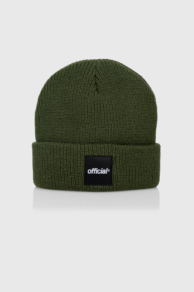 Everyday Box Logo Beanie (Olive)
