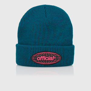 WRLD Takeover Beanie (Dark Teal)