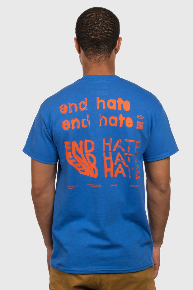 End Hate - Take Action T-Shirt (Blue)