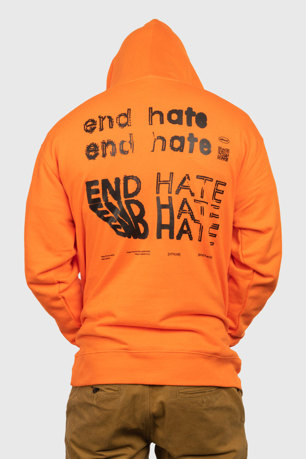 End Hate - Take Action Hooded Sweatshirt (Orange)