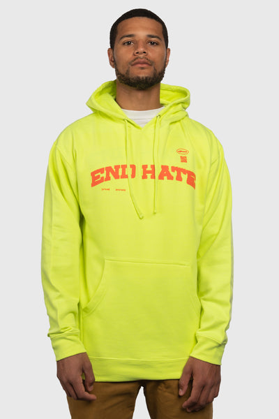 End Hate - Athletic Arc Hooded Sweatshirt (Safety Yellow)