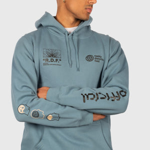 Reality Distortion Field Hooded Sweatshirt (Slate Blue)