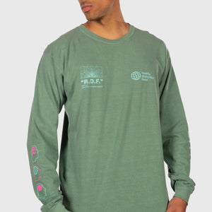 Reality Distortion Field Longsleeve Shirt (Sage Green)