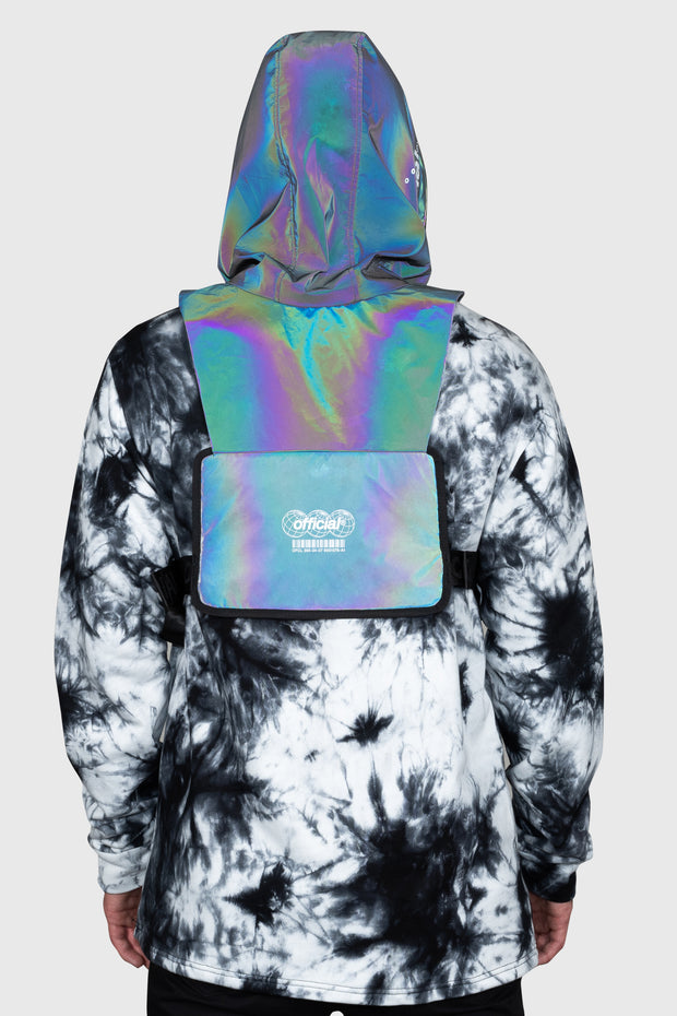 Hood Shield Utility Chest Bag (Rainbow Reflective)