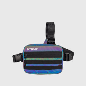 RFLCTIV Rainbow Reflective Tri-Strap Chest Bag